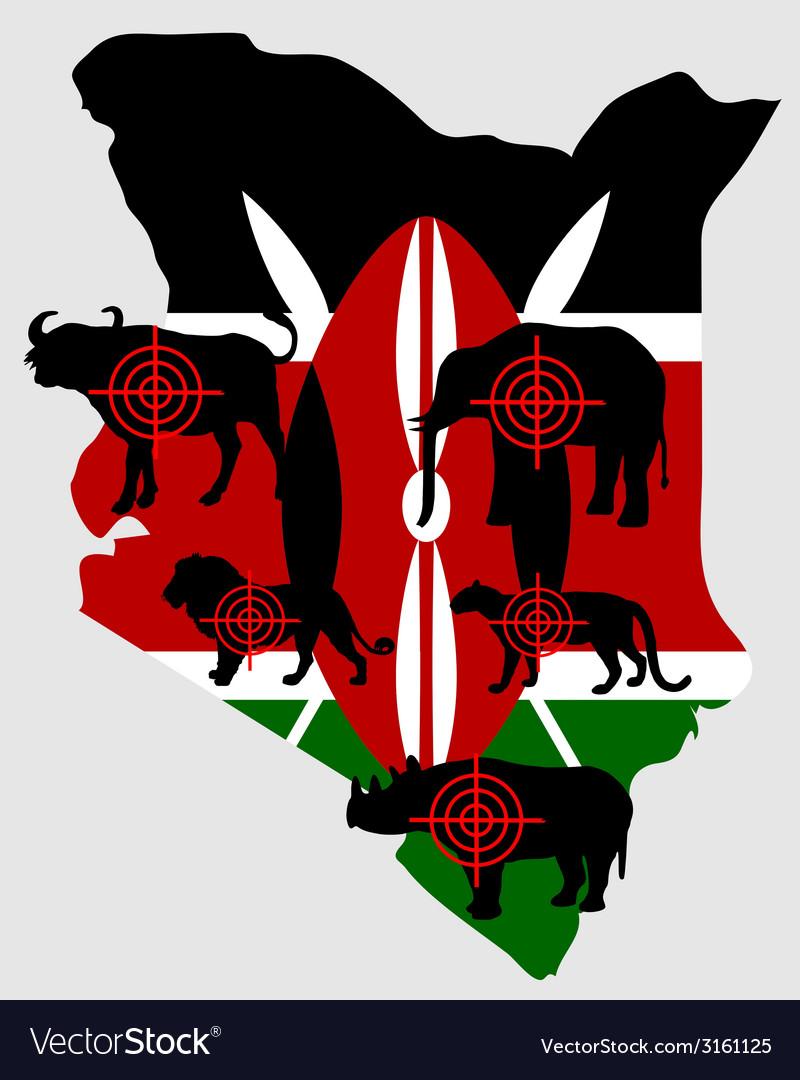 Big five kenya cross lines vector | Price: 1 Credit (USD $1)