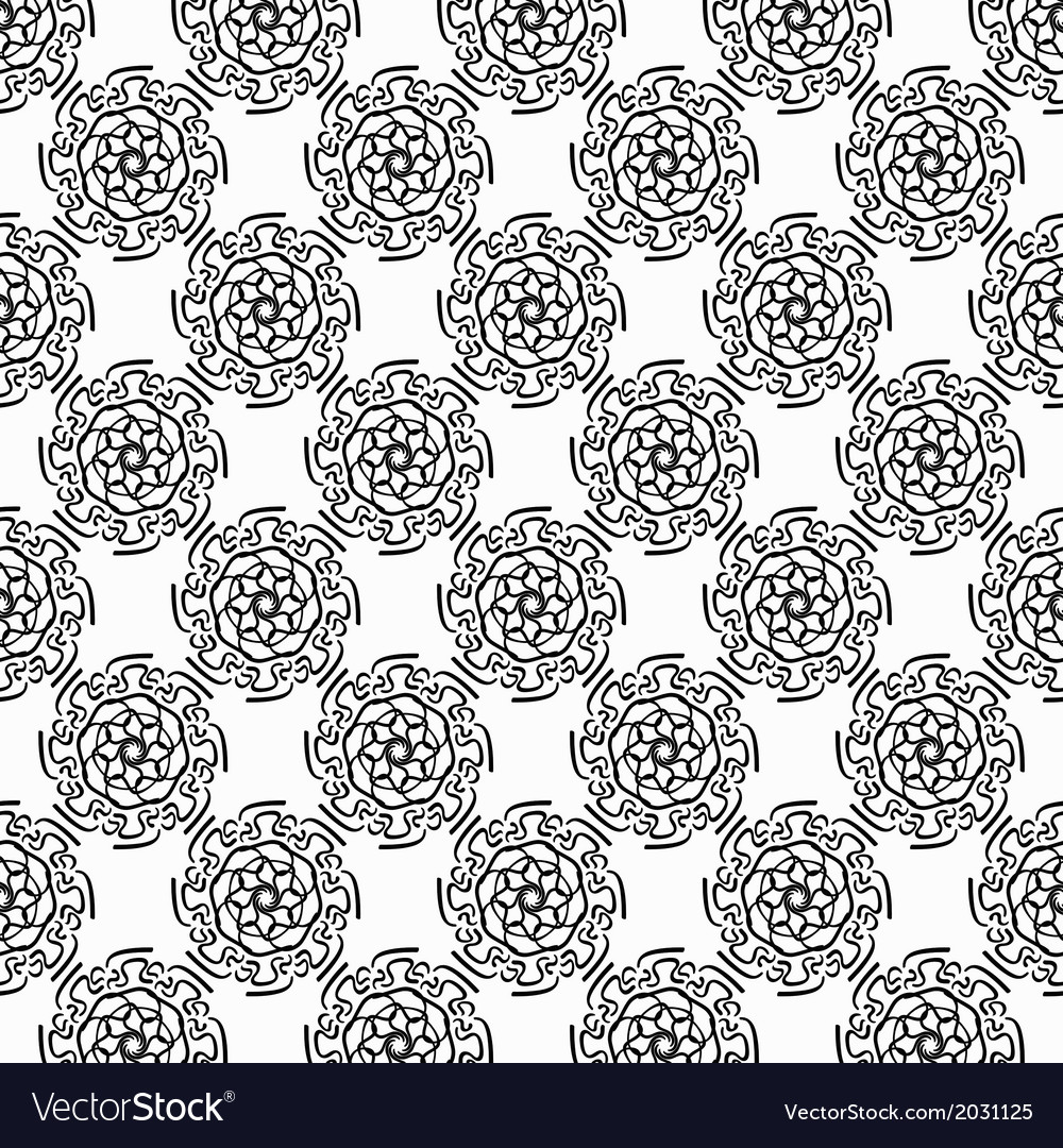 Black circular hand-drawn pattern on white vector | Price: 1 Credit (USD $1)