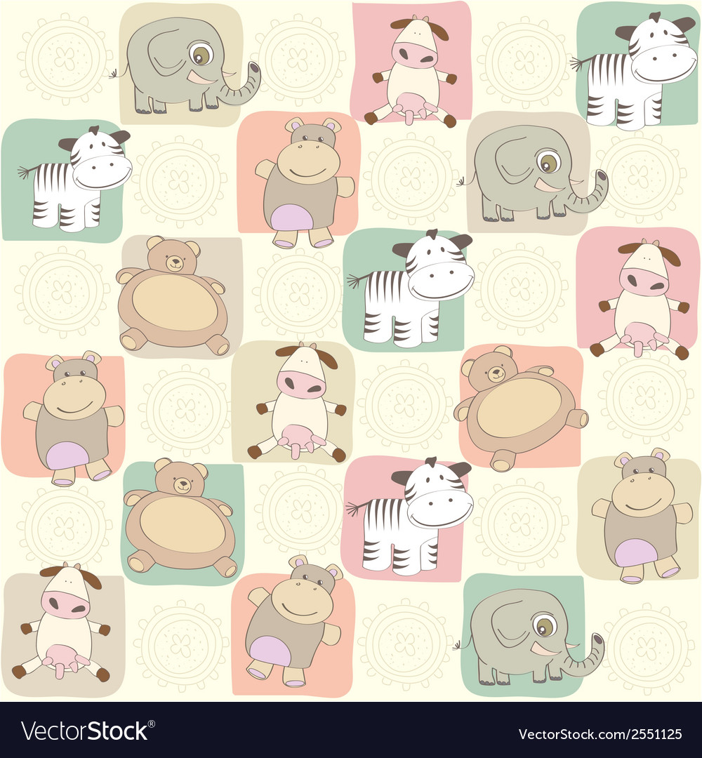 Childish seamless pattern with toys vector | Price: 1 Credit (USD $1)