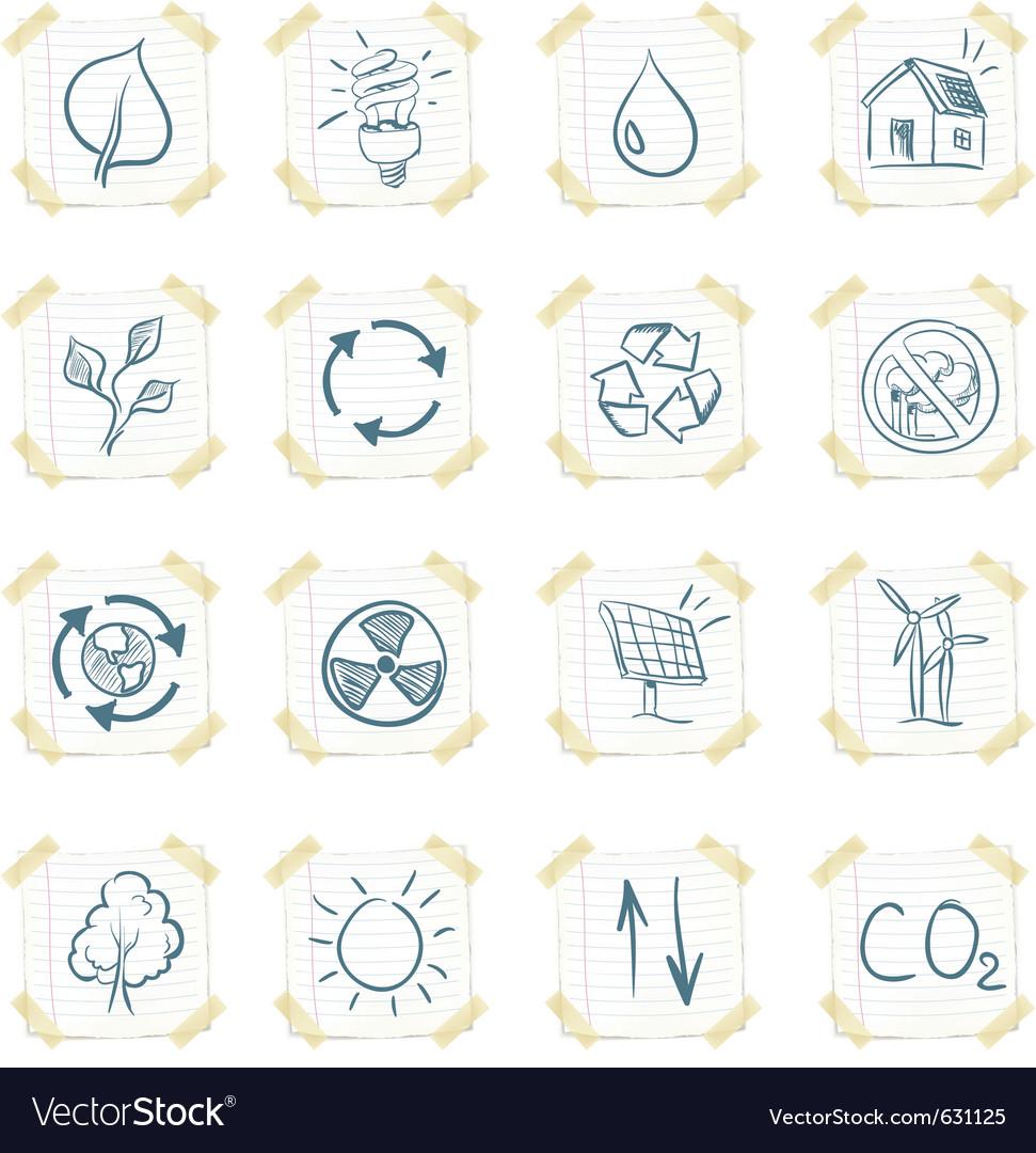 Eco sticker icon set vector | Price: 1 Credit (USD $1)