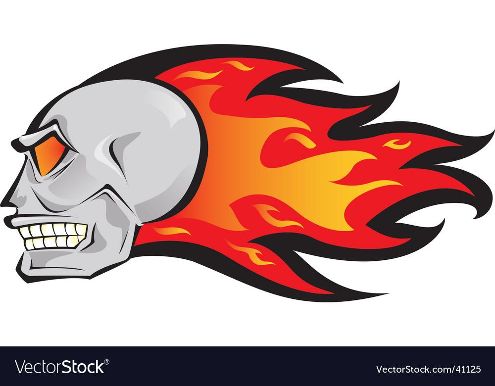Fire skull vector | Price: 1 Credit (USD $1)