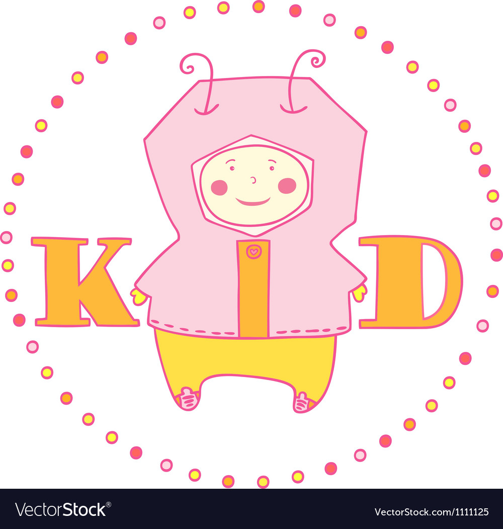 Kid girl vector | Price: 1 Credit (USD $1)