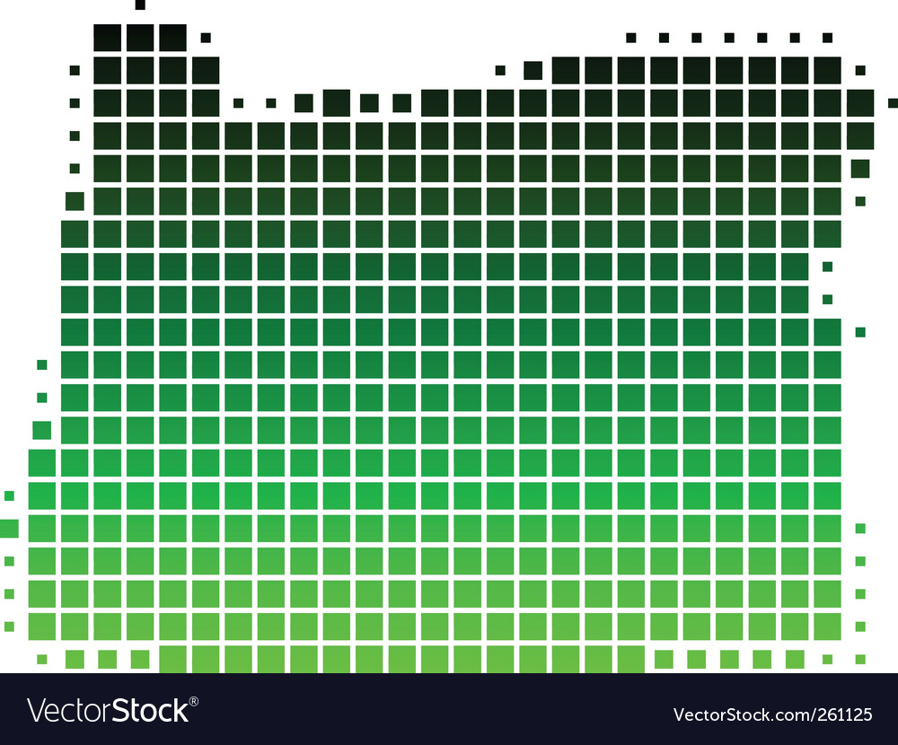Map of oregon vector | Price: 1 Credit (USD $1)