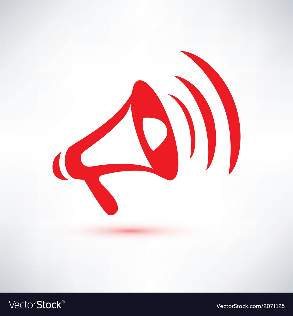 Megaphone loudspeaker isolated symbol vector | Price: 1 Credit (USD $1)