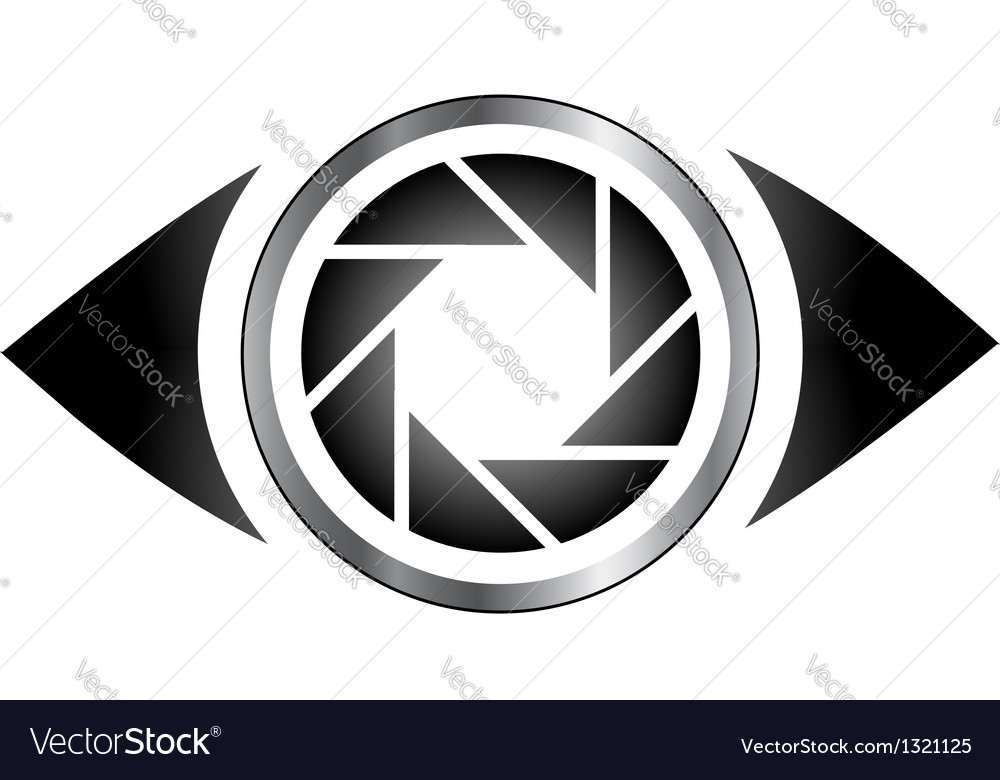 Photography eye logo vector | Price: 1 Credit (USD $1)