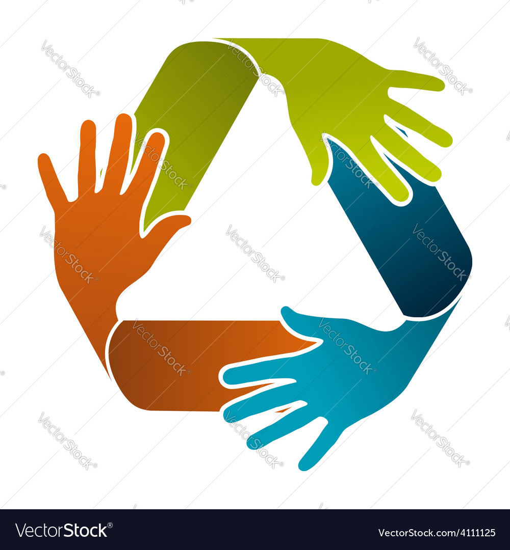 Recycle teamwork concept design vector | Price: 1 Credit (USD $1)