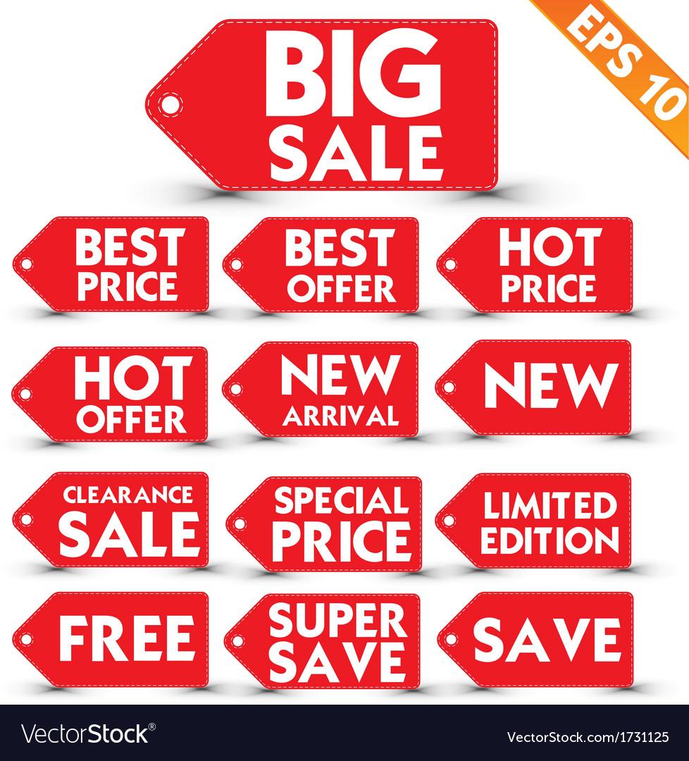 Sale stitch sticker price tag - - eps10 vector | Price: 1 Credit (USD $1)