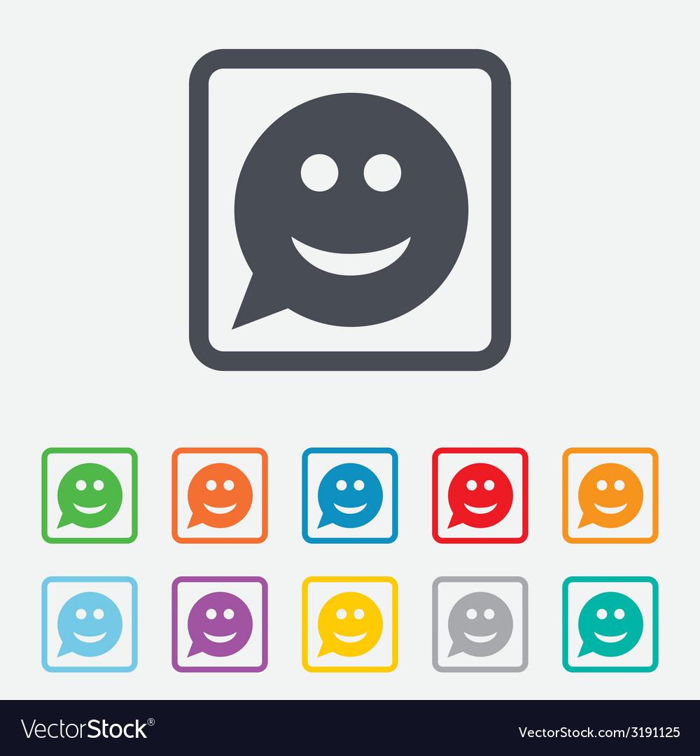 Smile face sign icon smiley symbol vector   Price: 1 Credit (USD $1)