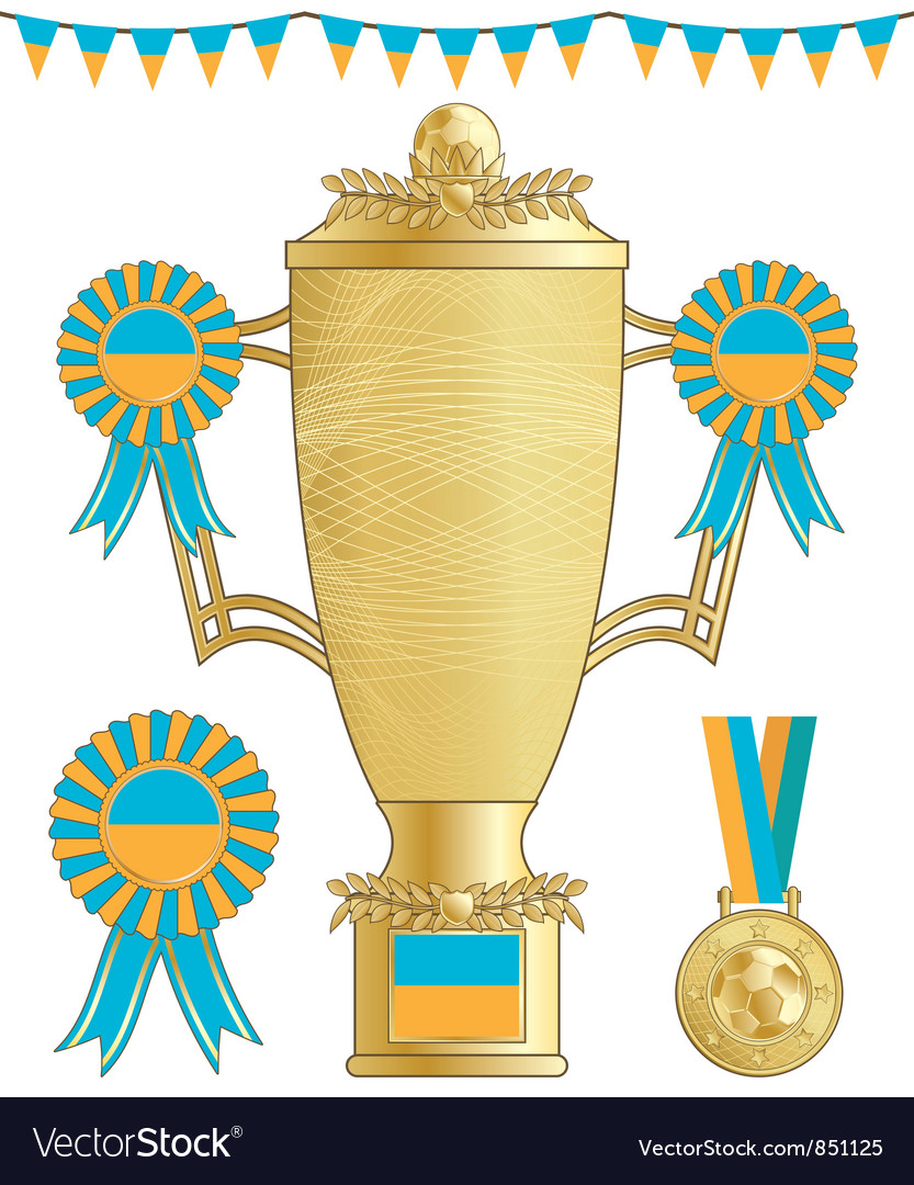 Ukraine football trophy vector | Price: 1 Credit (USD $1)