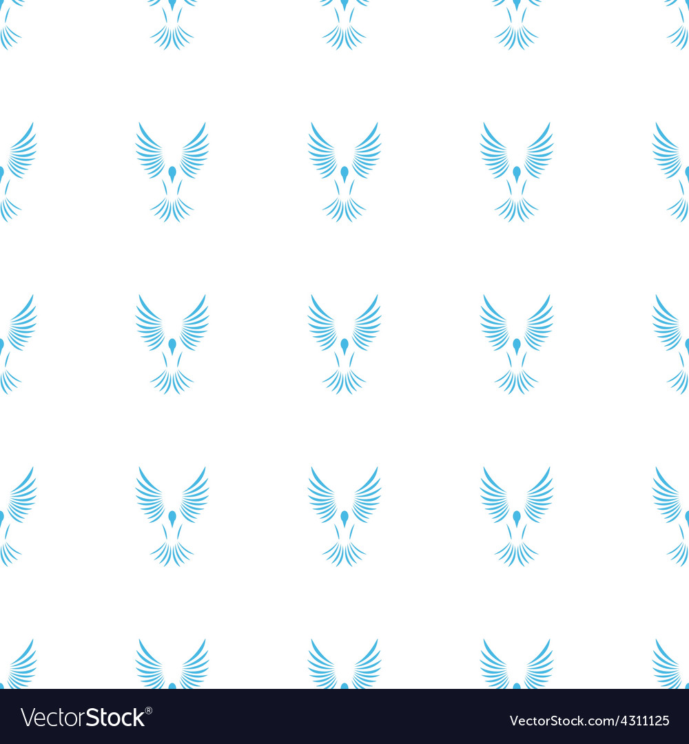 Unique bird seamless pattern vector | Price: 1 Credit (USD $1)