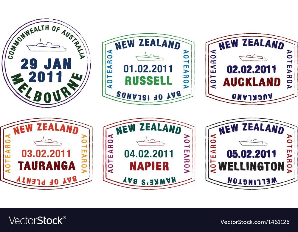 Various ship passport stamps vector   Price: 1 Credit (USD $1)