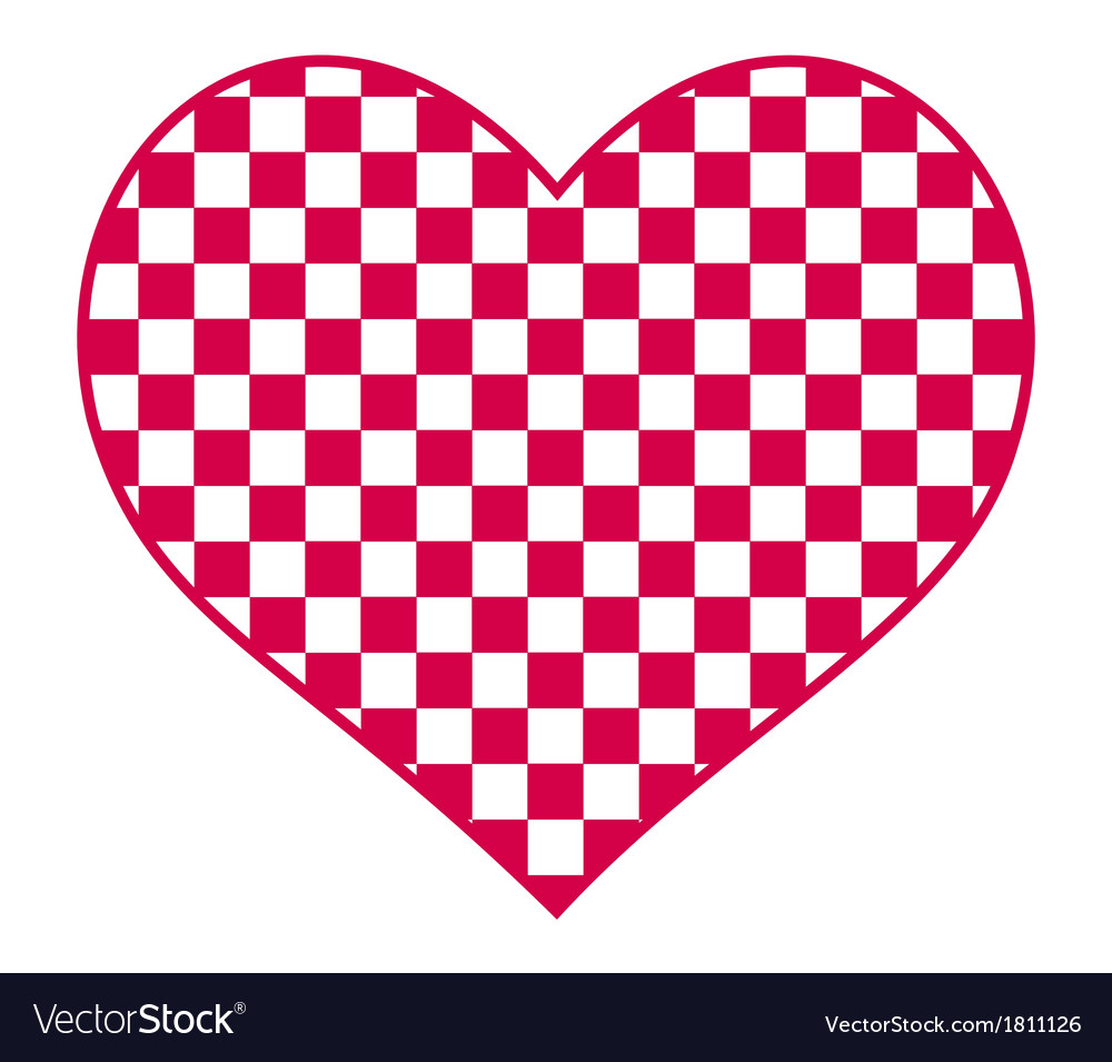 Checked heart vector | Price: 1 Credit (USD $1)