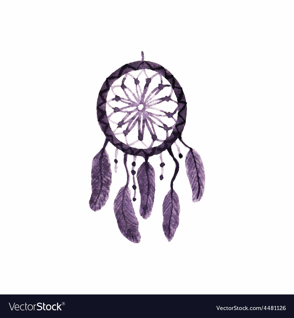 Dreamcatcher feathers and beads simple vector   Price: 1 Credit (USD $1)