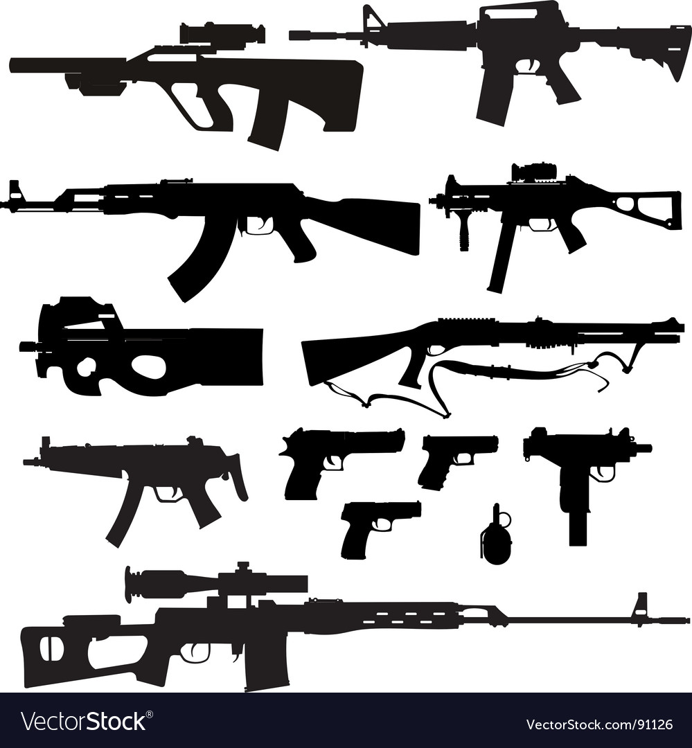 Firearms vector | Price: 1 Credit (USD $1)