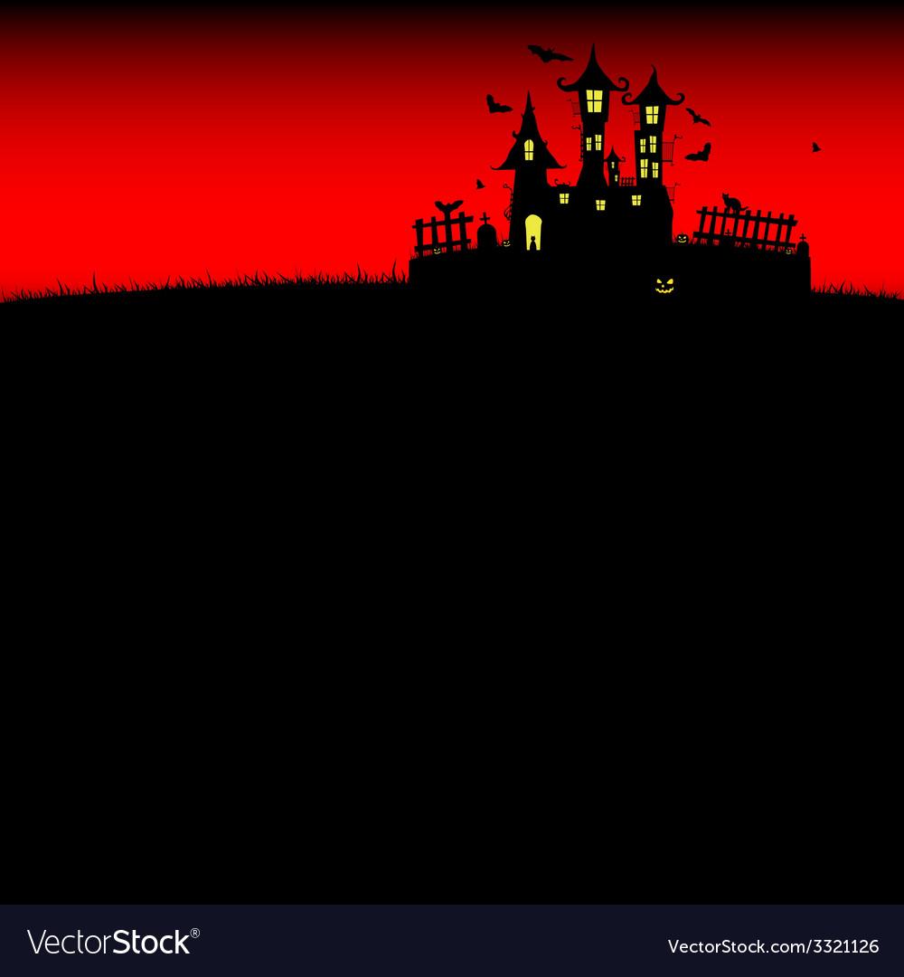 Halloween castle red vector | Price: 1 Credit (USD $1)