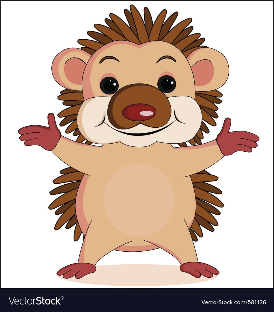 Hedgehog vector | Price: 1 Credit (USD $1)