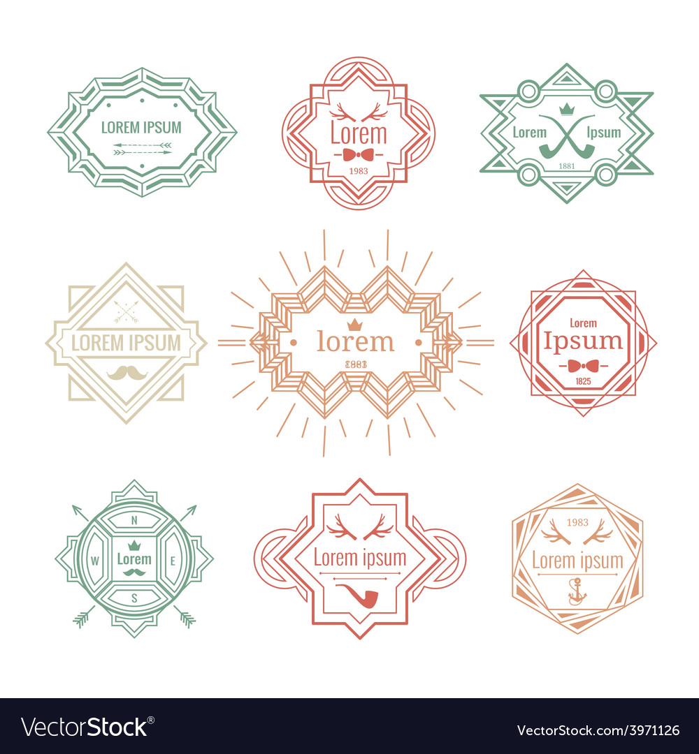 Hipster vintage labels vector | Price: 1 Credit (USD $1)