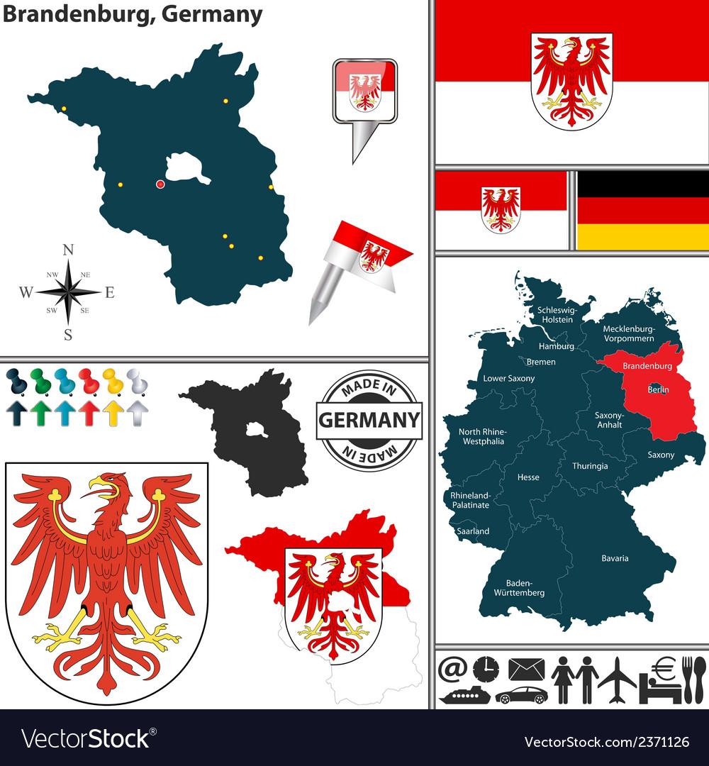 Map of brandenburg vector   Price: 1 Credit (USD $1)