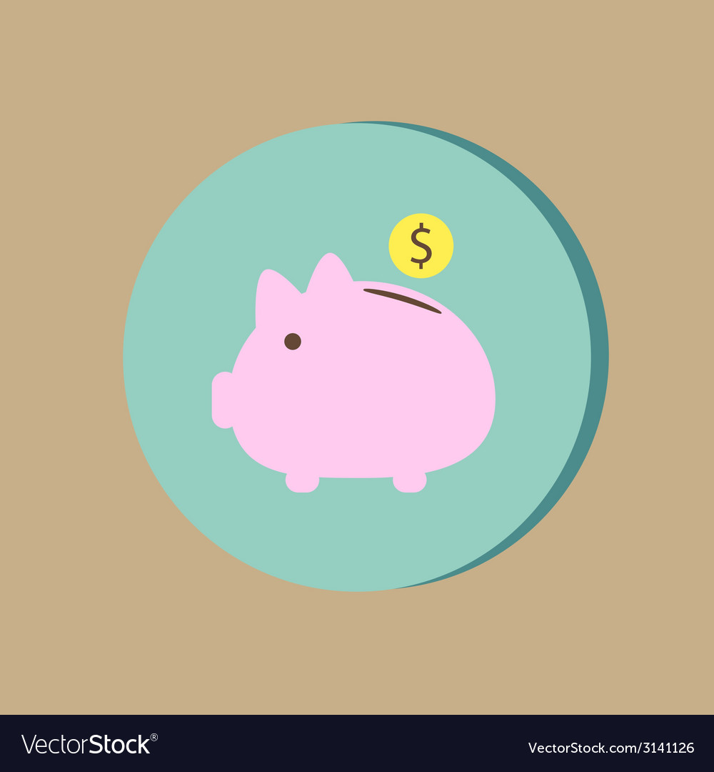 Piggy bank symbol of money vector | Price: 1 Credit (USD $1)