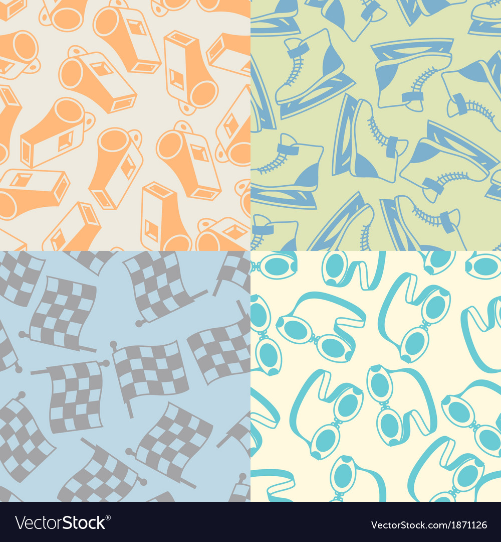 Seamless patterns of sport icons vector | Price: 1 Credit (USD $1)