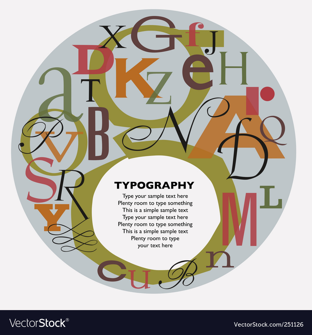Typographic composition vector | Price: 1 Credit (USD $1)