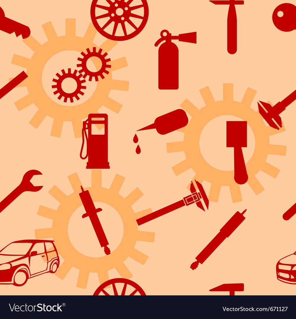 Auto car repair service icon symbols vector | Price: 1 Credit (USD $1)