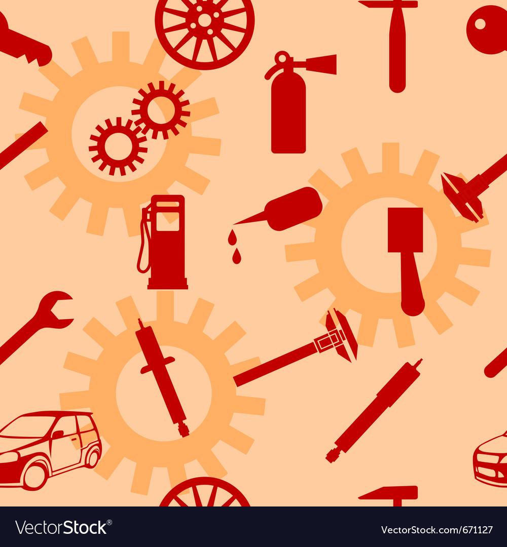 Auto car repair service icon symbols vector | Price: 1 Credit (USD $1)