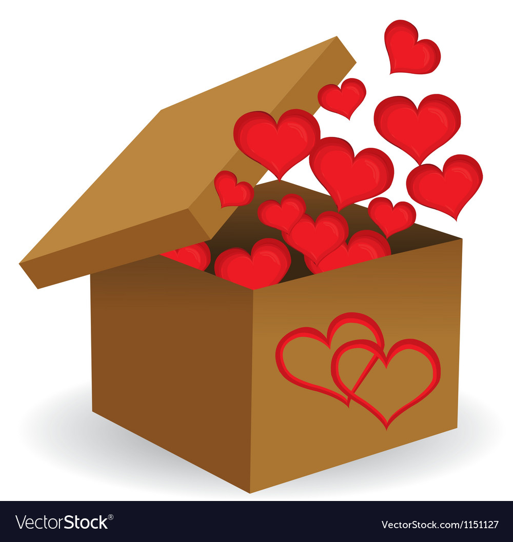 Box of hearts vector | Price: 1 Credit (USD $1)