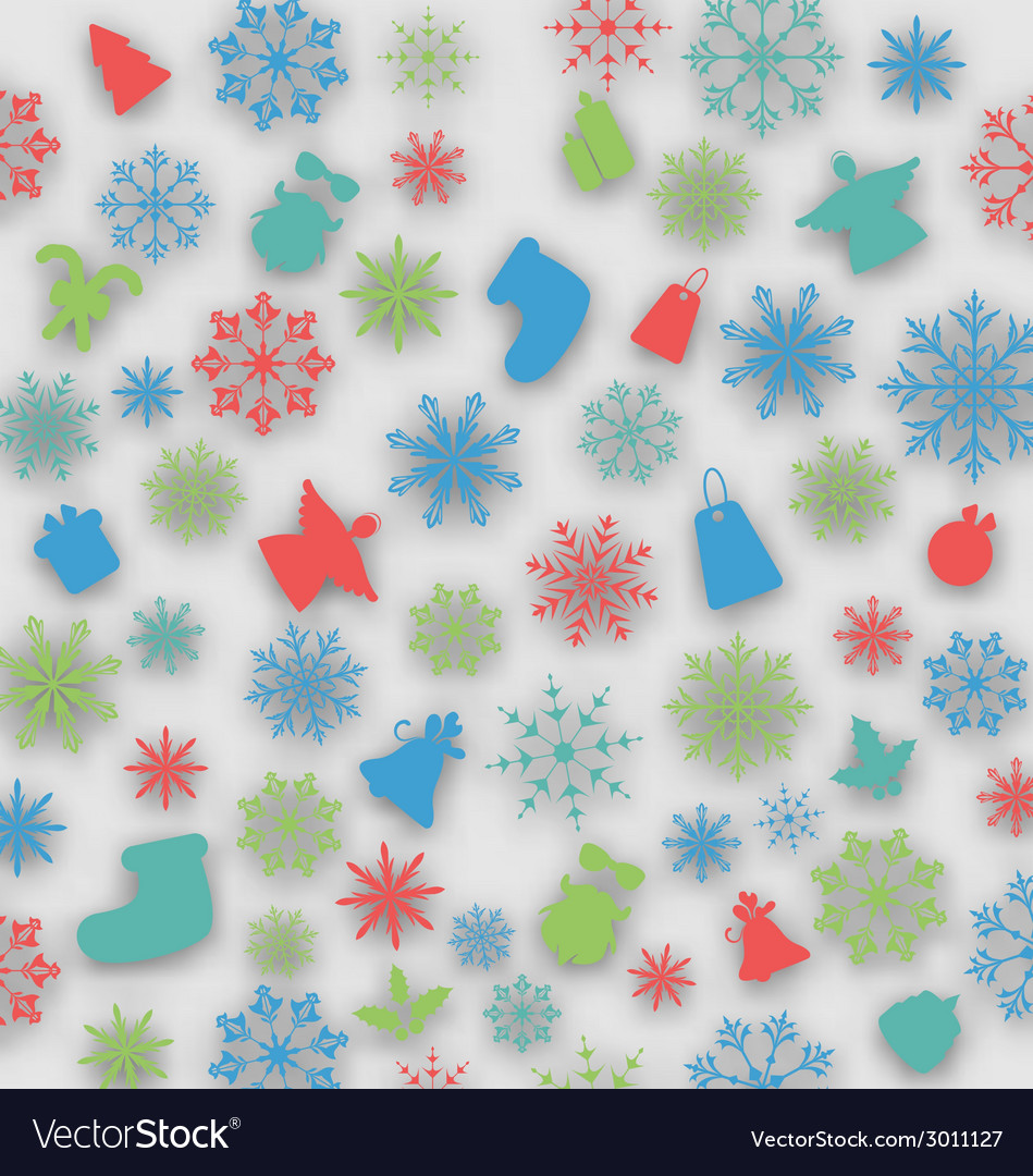 Christmas cover with traditional elements vector | Price: 1 Credit (USD $1)