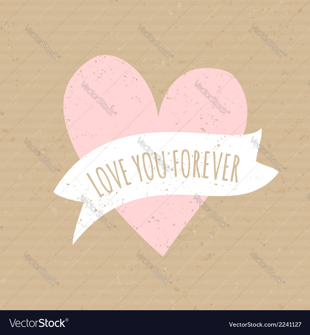 Cute pink heart cardboard paper wedding design vector | Price: 1 Credit (USD $1)