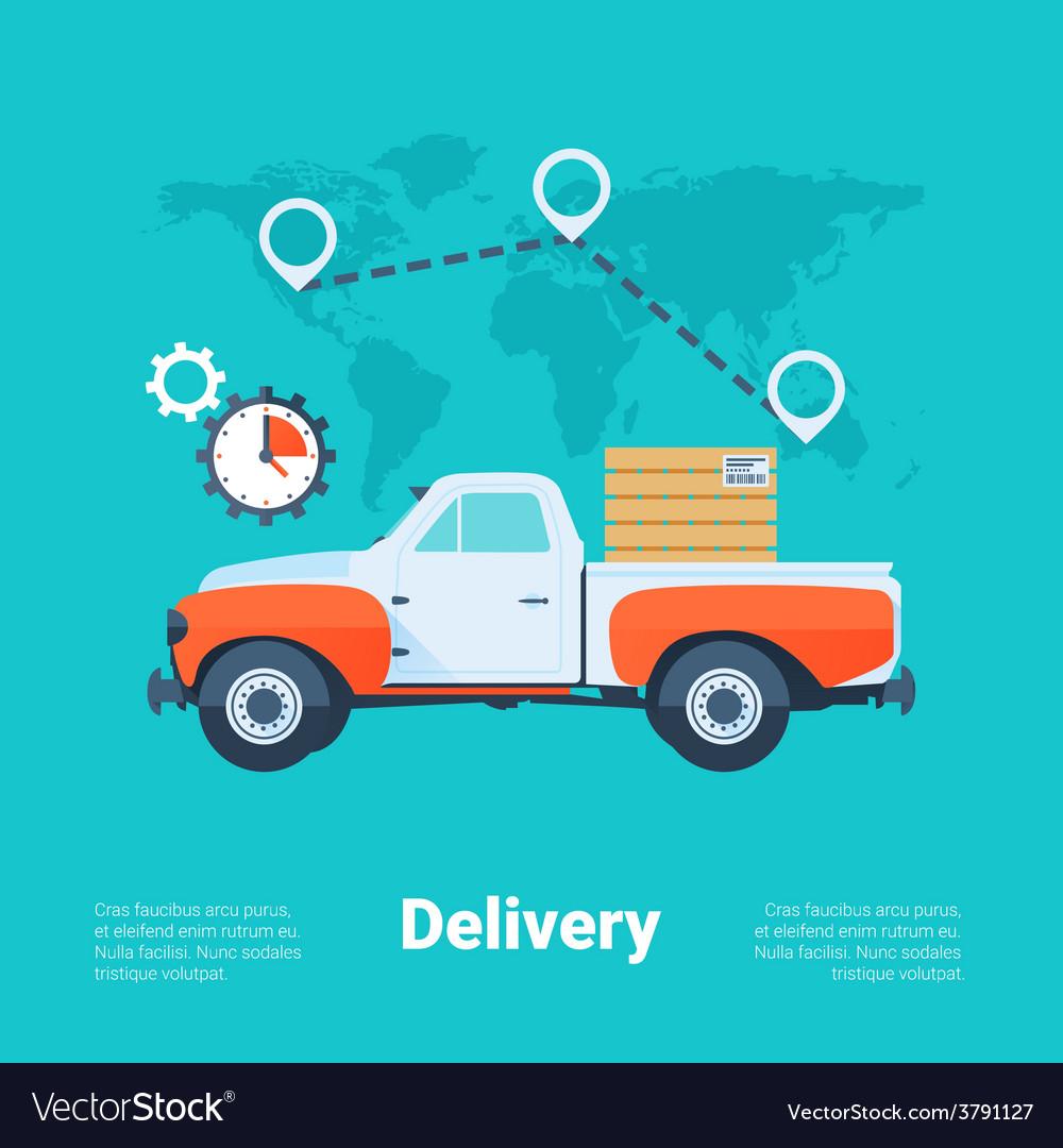 Delivery service concept vector | Price: 1 Credit (USD $1)