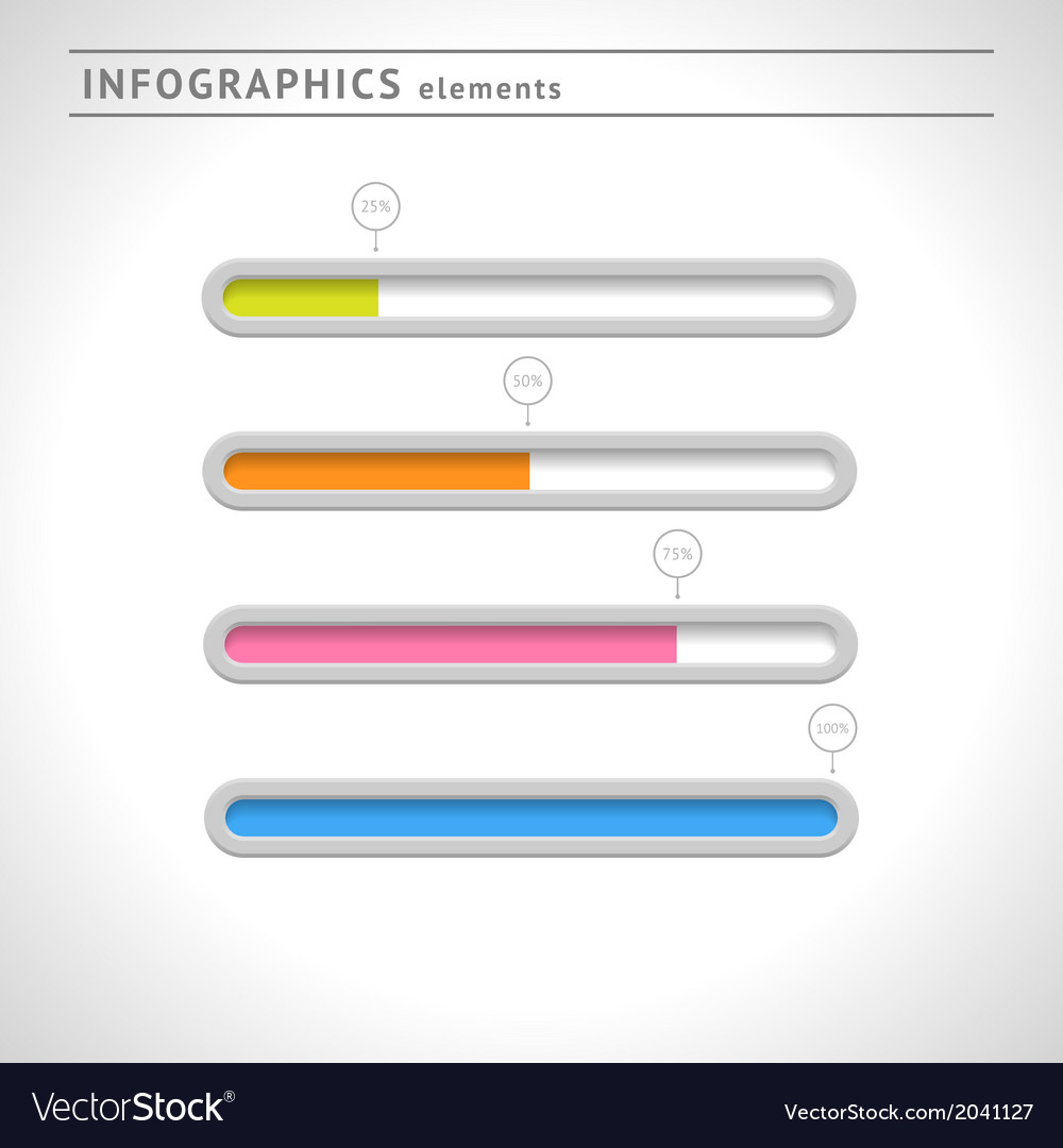 Download bars and progress indicators vector | Price: 1 Credit (USD $1)