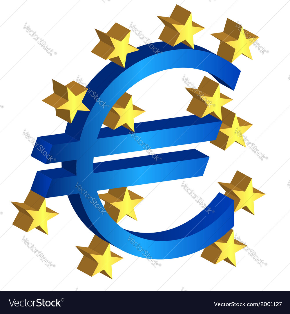 Euro currency sign vector | Price: 1 Credit (USD $1)