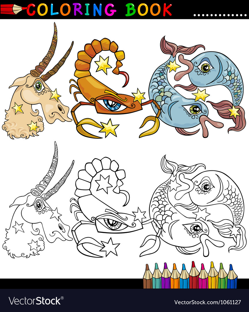 Fantasy animals characters for coloring vector | Price: 3 Credit (USD $3)