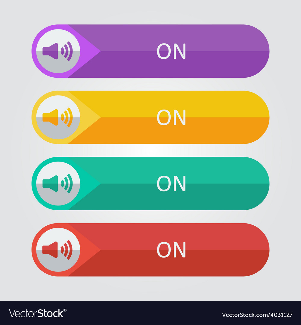 Flat buttons sound on vector | Price: 1 Credit (USD $1)