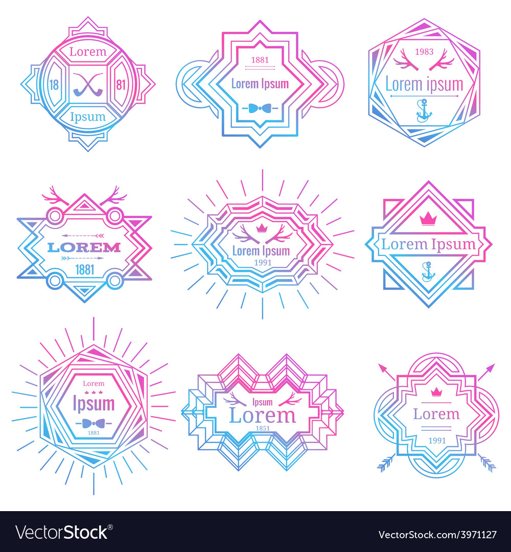 Modern hipster logo set vector | Price: 1 Credit (USD $1)