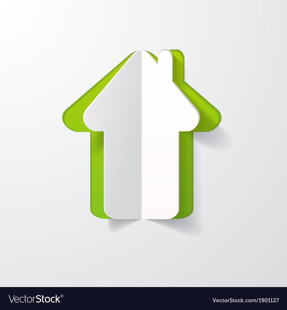 Paper house vector | Price: 1 Credit (USD $1)