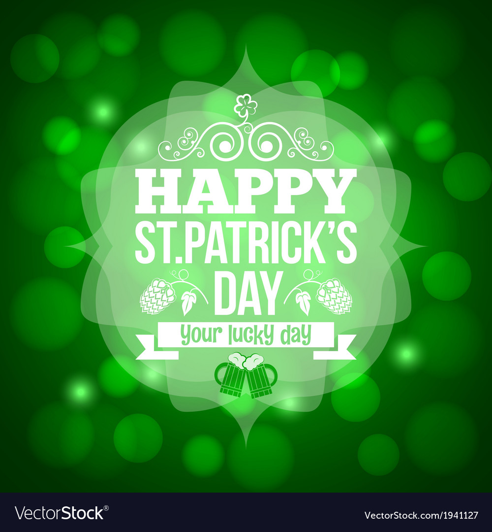 Patrick day beer mug background vector | Price: 1 Credit (USD $1)