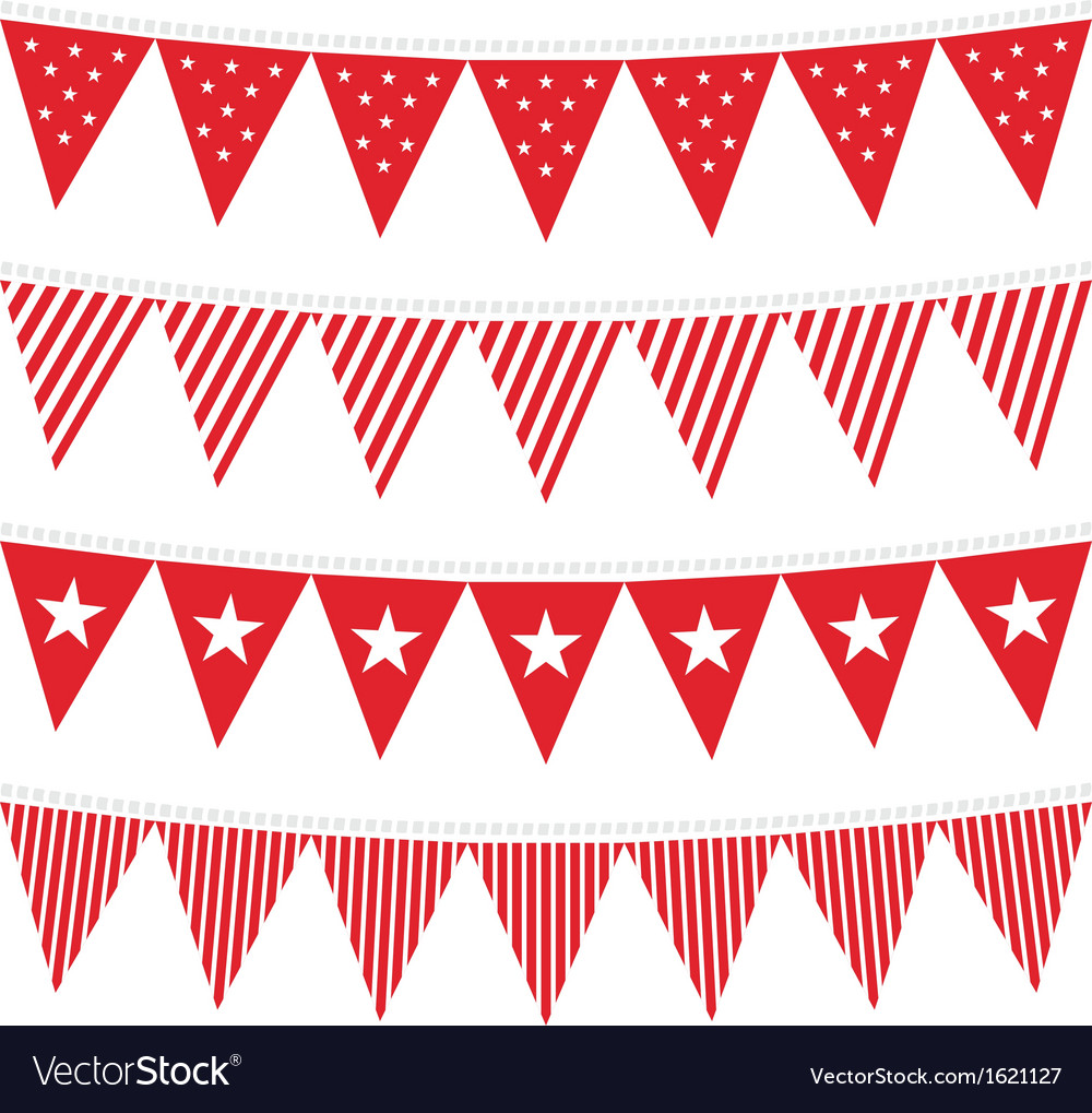 Patterned flag set vector | Price: 1 Credit (USD $1)