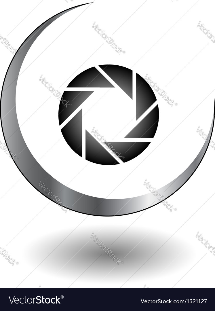 Photography logo in grey vector | Price: 1 Credit (USD $1)
