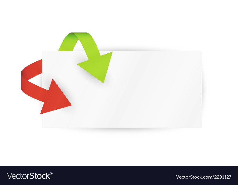Red and green arrows and paper vector | Price: 1 Credit (USD $1)