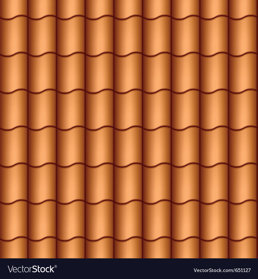Seamless roof tiles vector | Price: 1 Credit (USD $1)