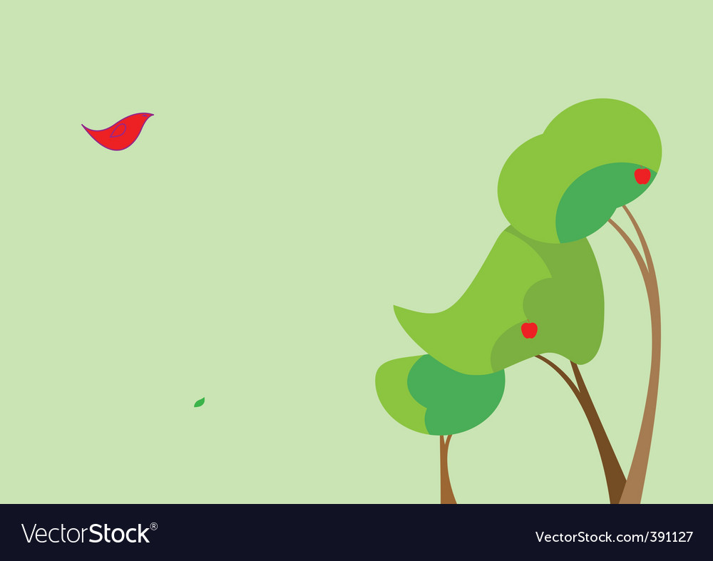 Three surreal trees vector | Price: 1 Credit (USD $1)