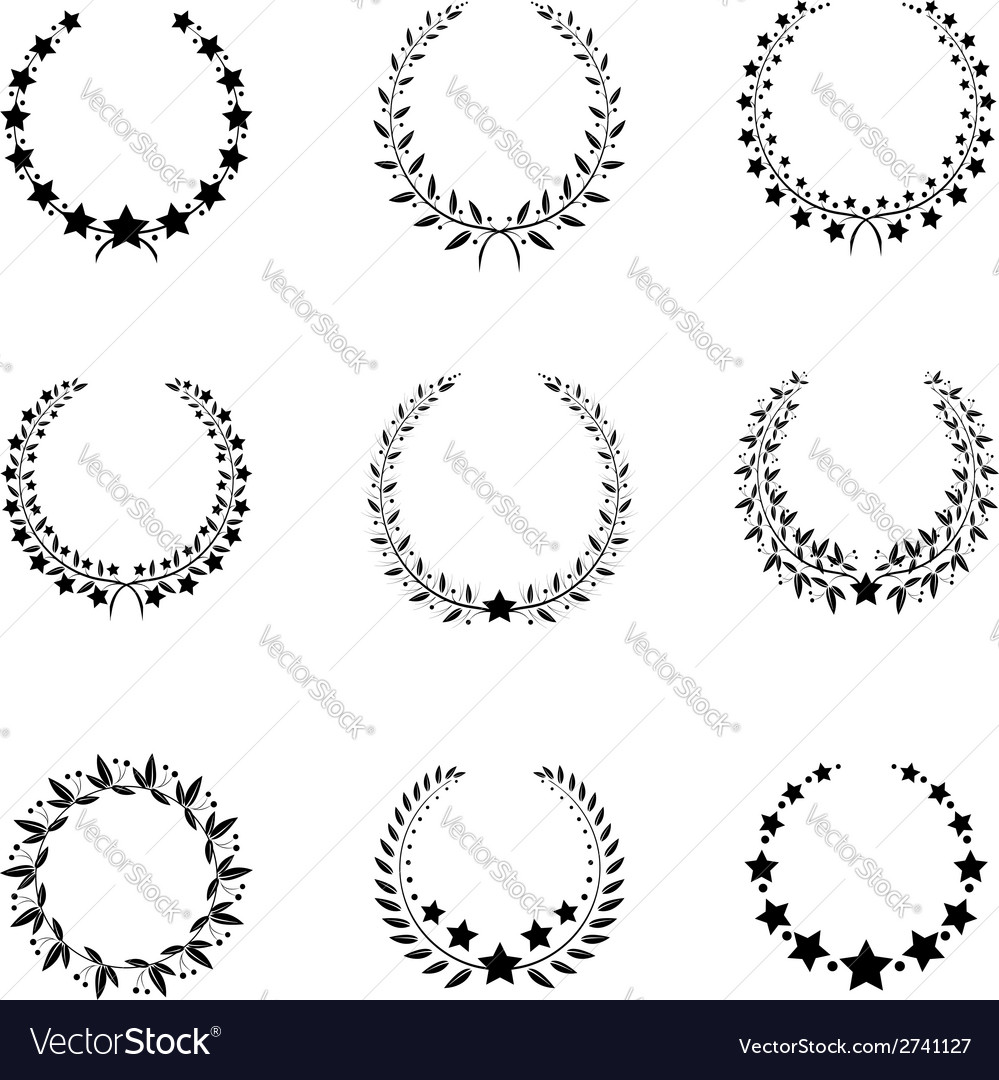 Wreaths vector | Price: 1 Credit (USD $1)