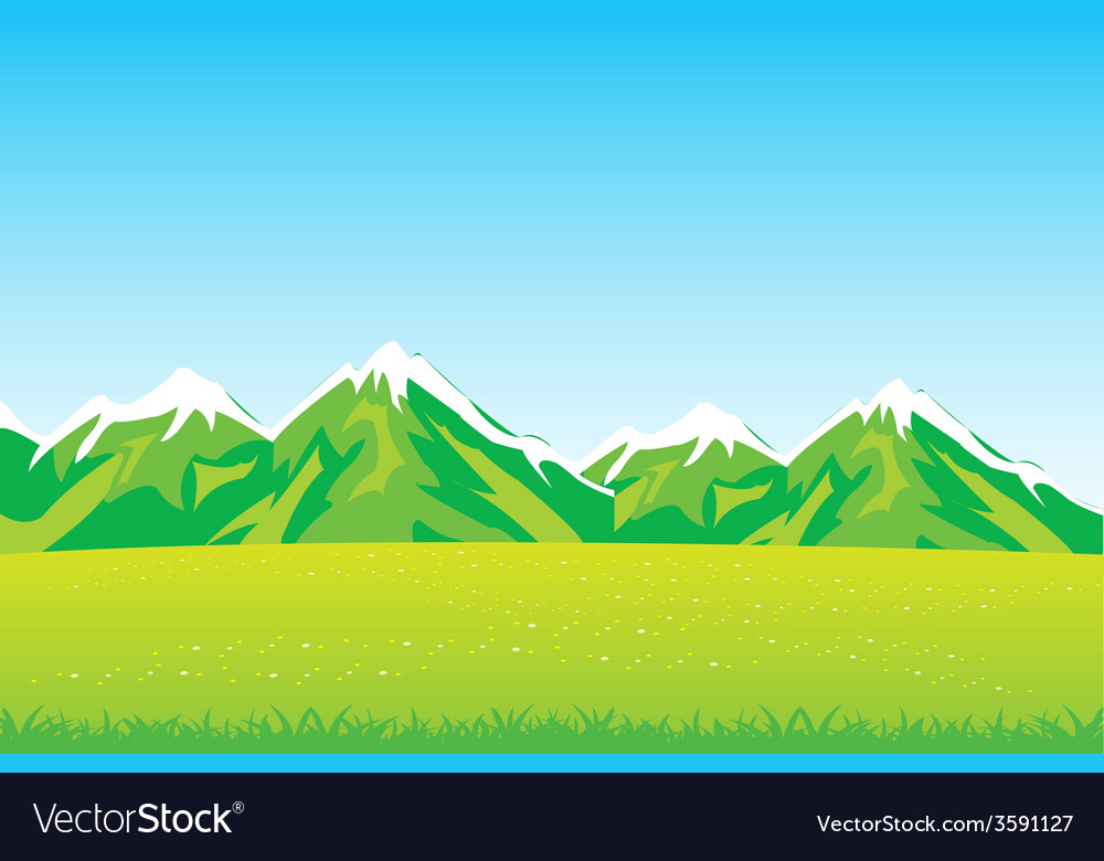 Year field and mountains vector   Price: 1 Credit (USD $1)