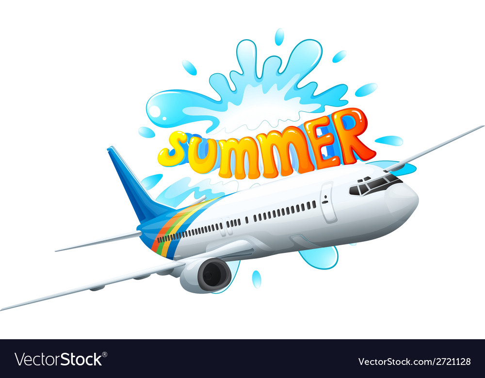 An airplane adventure for summer vector | Price: 1 Credit (USD $1)