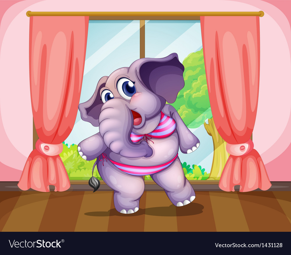 An elephant wearing a swimwear vector | Price: 1 Credit (USD $1)