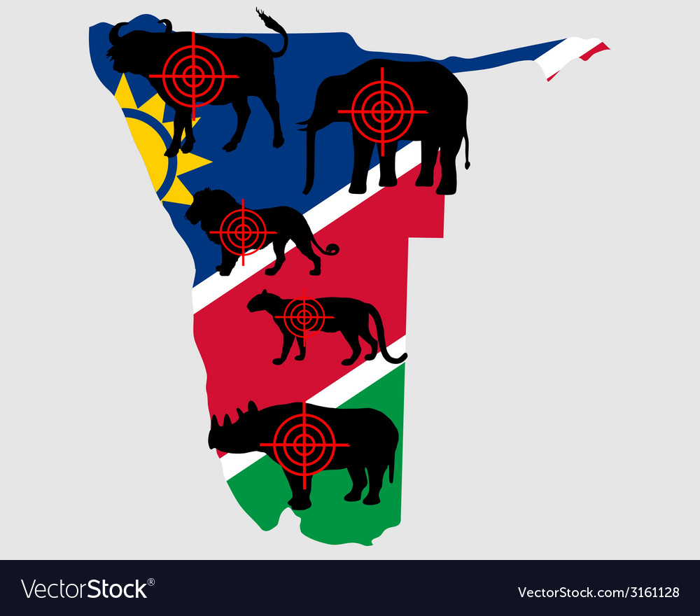 Big five namibia cross lines vector | Price: 1 Credit (USD $1)
