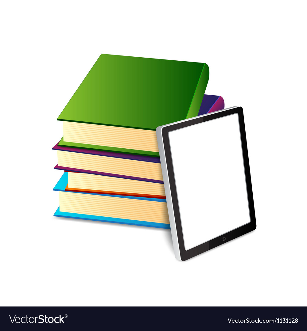 Books ans tablet pc vector | Price: 1 Credit (USD $1)