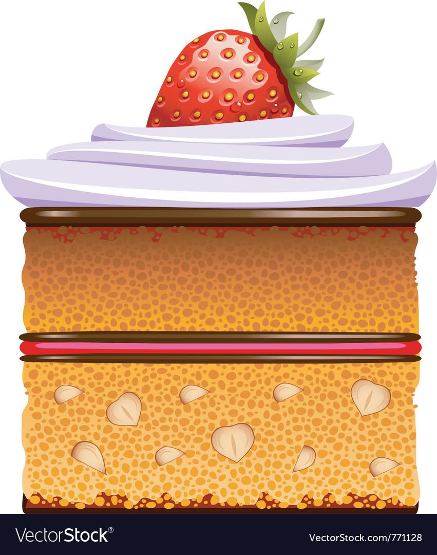Cake slice vector | Price: 3 Credit (USD $3)